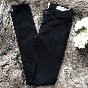 Rag and Bone skinny black jean style pants